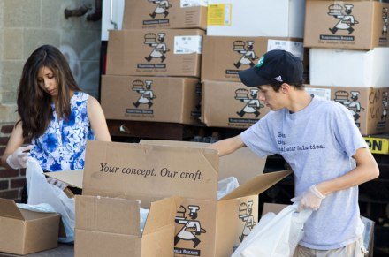 Red Cross Boston Food Pantry -  Alicia Aispuro and Zach Semel