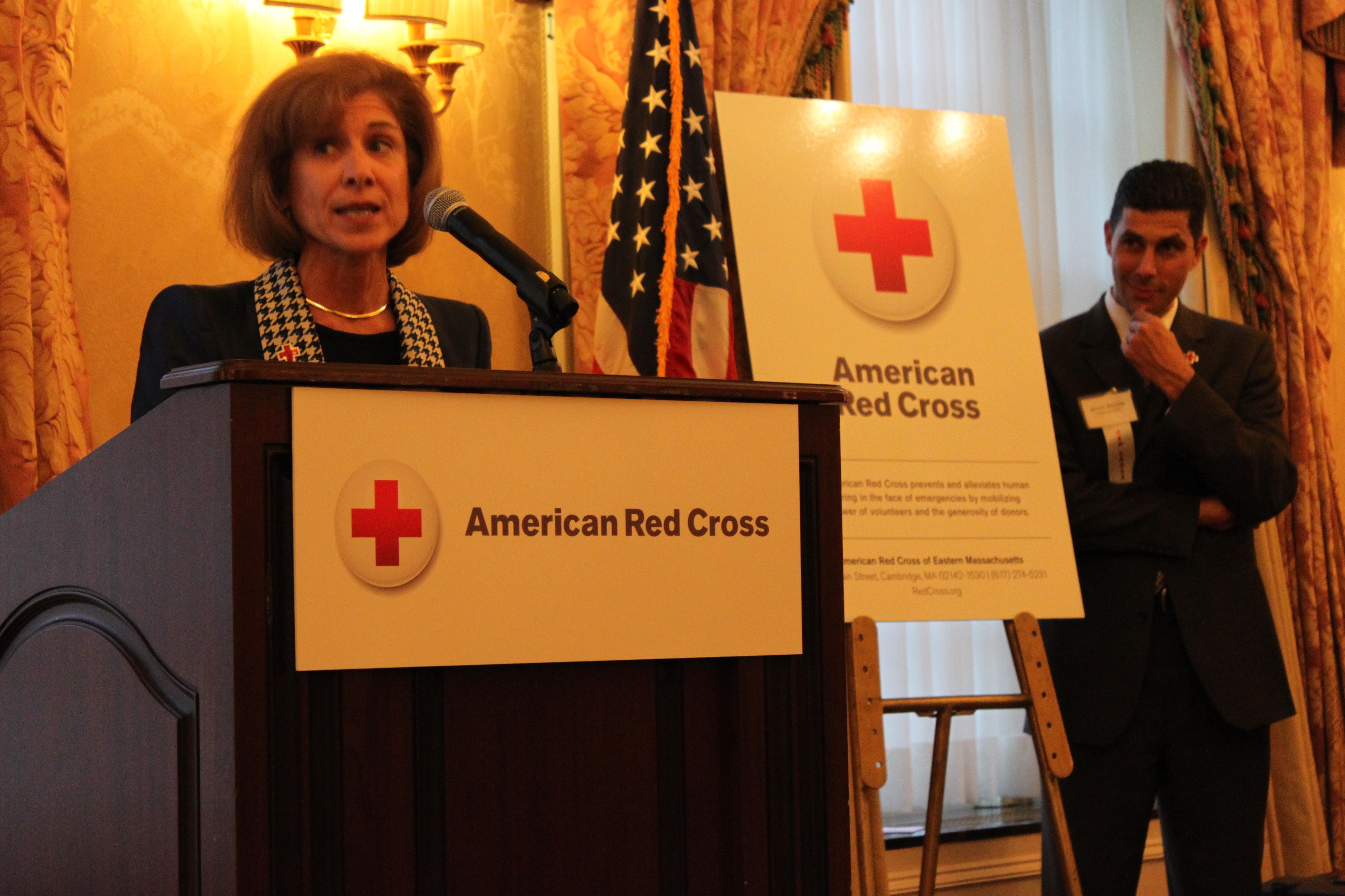 American Red Cross President Ceo Speaks In Boston