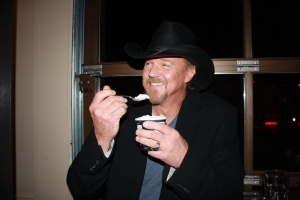 Trace eating ice cream