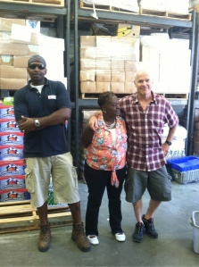 A fun shot of the Food Pantry staff